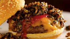 Healthy Beef, Red Bean and Mushroom Hamburger