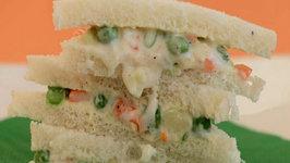 Russian Salad Sandwich by Tarla Dalal