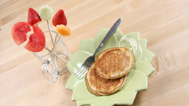 Bunny Pancakes and Fruit Bouquet