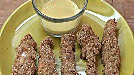 Baked Honey Sesame Chicken Fingers (Tenders)