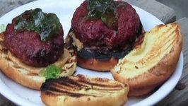 Cedar Planked Bison  Jalapeno PBJ Burger