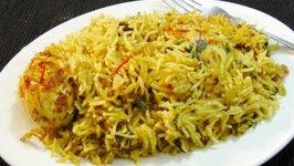 How to make Egg Biryani at Home - Indian