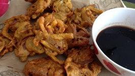 Onion Bhaji (Holi Snacks) - How to Make Onion Pakoras