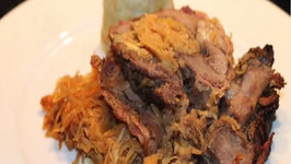 Sauerkraut Stuffed Wild Boar Roast