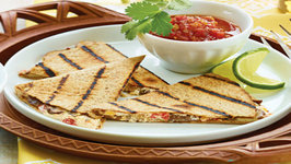 Wegmans Mushroom and Goat Cheese Quesadillas