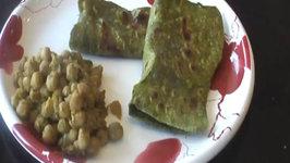 Spinach Paratha  Palak Parantha - Indian Food