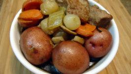Slow Cooker Pork Shoulder in White Wine and Dijon Sauce