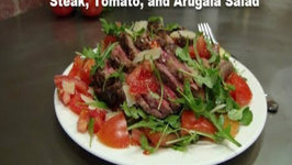 Sliced Beef with Tomatoes, Arugula and Parmesan - Collaboration with EnjoyDifferentTaste