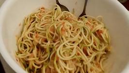 Raw Vegan Vegetable Spaghetti
