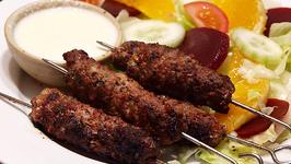 Arabic Beef Kefta with Saffron Yogurt