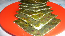 Spinach and Cottage Cheese stuffed Oil roasted Flatbread