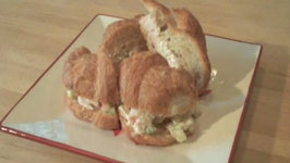Waldorf Chicken Salad tea sandwiches
