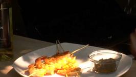 Grilled Sambol Marinated Shrimp