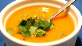 Fall's Orange Kumara Carrot and Lenil Soup
