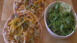 Chicken Fajita Flatbread Pizza