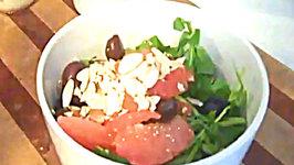 Spring Bitter Greens Salad with Sweet Orange Dressing
