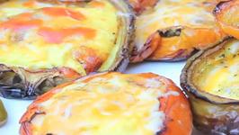 Plank Grilled Bell Pepper Shell Omelet