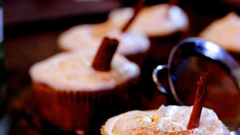 Apple Cupcakes with Syllabub Topping