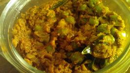 Green Peas Masala ( Green Matar curry dry)