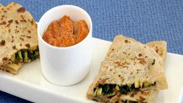 Spinach and Baby Corn Parathas by Tarla Dalal