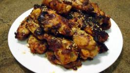 Doenjang Molasses Chili Bourbon Sticky Chicken Wings