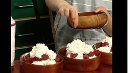 Imogen's Aztec Chocolate Ice Cream with Raspberries