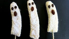 How to Make Banana Ghost Pops