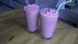 Almond Milk with Blueberries