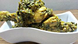 Spinach Chicken (Palak Chicken)