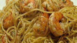 Christmas Eve Pasta Lemon Pepper Shrimp Linguini (or Spaghetti)