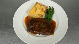 Flat Iron steak with tamarind demi