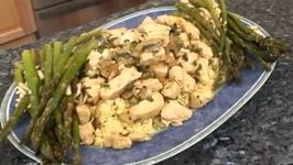 Chicken Mojito with Couscous and Roasted Asparagus