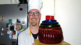 Giant Rainbow Gummy Cupcake