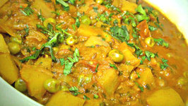 Golden Green Peas and Potatoes