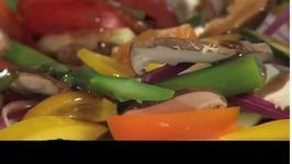 Caprese Kabobs and Marinated Tomato Salad