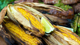 90 Second Grilled Corn with Chipotle Lime Butter