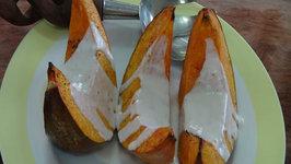 Roasted Pumpkin or Squash with Coconut Cream Sauce - Vegan
