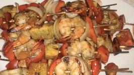 Healthy Crispy Grilled Shrimp Kebabs