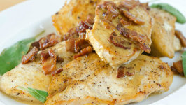 Chicken with Bacon, Sage, and Mustard Cream Sauce - Quick Weeknight Meals