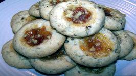 Apricot Walnut Thumbprint Cookies