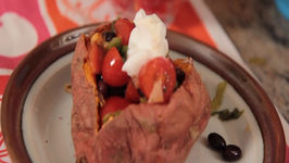 Sweet Potato Microwave Recipe for Students Back To School Series