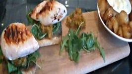 Chicken and Chorizo Ciabattas