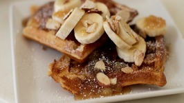 Beer-Batter Waffles with Duded-Up Syrup