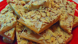 Betty's English Toffee with White Chocolate and Almonds -- Christmas