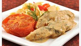 Honey Glazed Chicken in Dill Cream Sauce