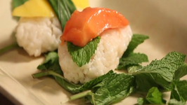 Coconut Rice and Fruit Sushi Dessert