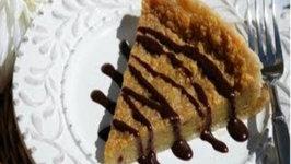 Tarte au Cafe avec Sauce Chocolat