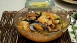 Asian Style Spicy Seafood Noodle Soup