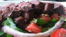 Grilled Sirloin Steak Salad with Watermelon