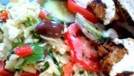 Mediterranean Turkey Meatballs with Pasta Salad